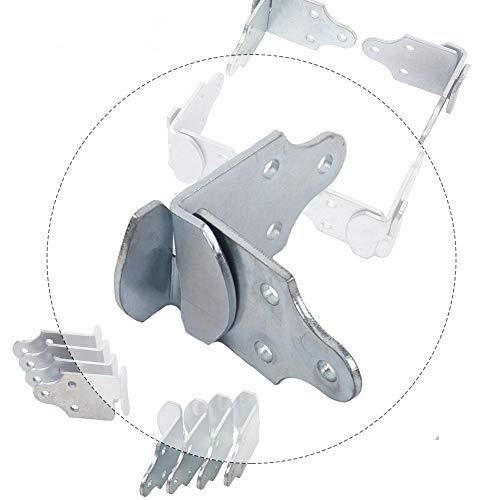 (HEKA 8 PC Utility Trailer Wood Sides Latch Rack Stake Body Gates Corner Brackets)