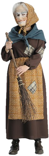 Costume travestimento da BEFANA con fazzoletto misura unica  Amazon ... b5a964867478