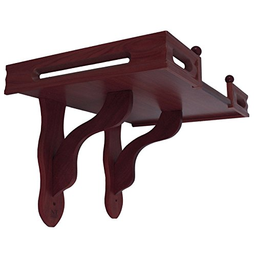 Altar Style Cabinet - NT furniture Buddha Altar Shelf Stand Wooden Wall Rack Ming, (16x24x15 inches, Cherry)