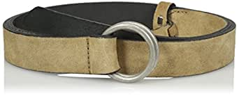 French Connection Women's Lilly Belt, Sandstone/Antique Silver, XS
