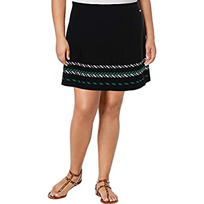 Armani Exchange Womens Textured Printed Knit Skirt