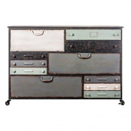 Mueble auxiliar de taller Metal multicolor sobre ruedas 13 cajones Vical Home: Amazon.es: Hogar