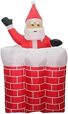 Santa Inflable, Hinchable Navidad Papá Noel Al Aire Libre Fiesta ...