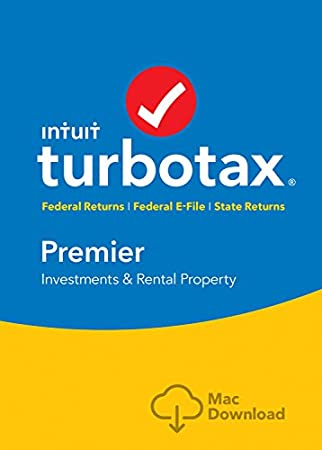 TurboTax Premier Tax Software 2017 Fed + Efile + State MAC Download [Amazon Exclusive]