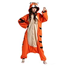 Adult Bengal Tiger Onesie Kigurumi Costume Pajamas Partywear Outfit for Women Men