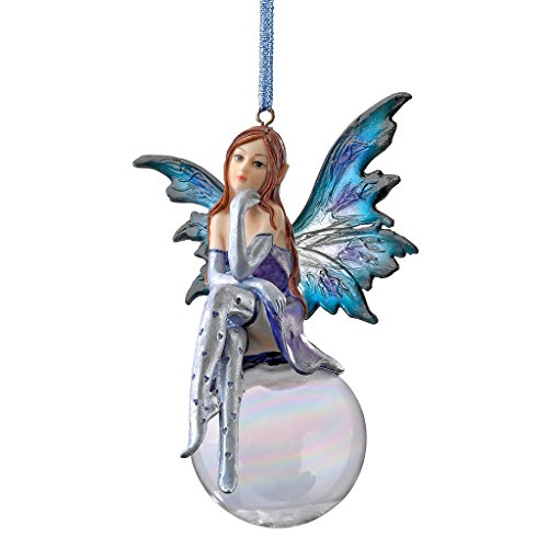 Design Toscano The Snow Fairy Goddess Holiday Ornament, Single