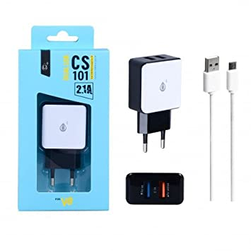 CARGADOR DE RED ONE PLUS CS101 DUAL USB 2.1A MICRO USB ...