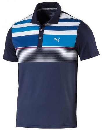PUMA Golf Kids Mens Road Map Asymmetrical Polo Jr (Big Kids)