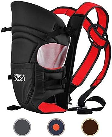 poche de rangement Monsieur B/éb/é /® Porte b/éb/é ventral 2 positions Norme EN 13209 4 coloris