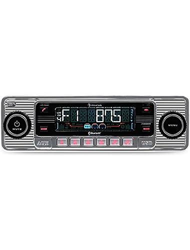 AUNA RMD-Sender-Two Car radio  Car hi-fi set  Bluetooth interface  USB slot  SD MMC slot  radio tuner  MP3  3 5mm jack AUX input  Stereo-Cinch Line Outlet  Hands-free system  Silver