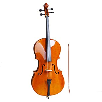 Natural Z ZTDM 4//4 Acoustic Cello with Case Bow Rosin for Adults Student Beginners