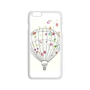 Cartoon flower Hot air balloon personalized creative custom protective phone case for Iphone 6