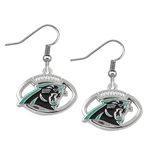 Carolina Panthers Earrings- Carolina Panthers Jewelry & Perfect Football Fan Gift