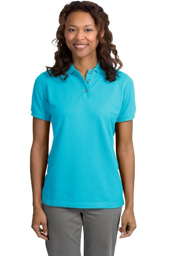 Port Authority Ladies Pique Knit Sport Shirt, 3XL, Turquoise