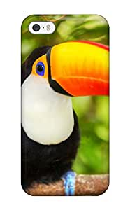 Iphone 5/5s Hard Back With Bumper Silicone Gel Tpu Case Cover Toucan