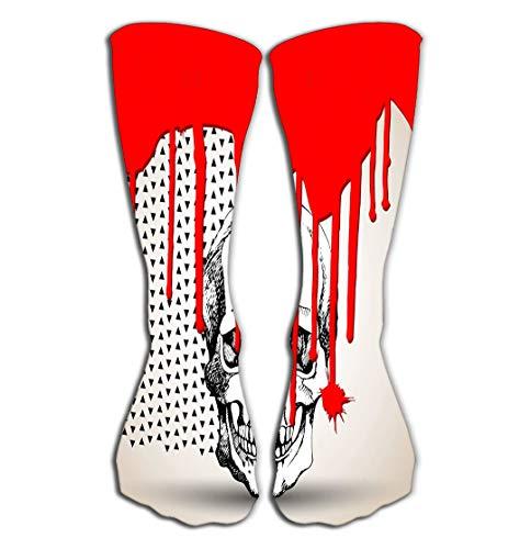 Xunulyn Women Knee High Socks Novelty Compression Socks 19.7