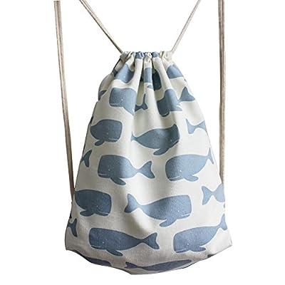 VigourTrader Women Floral Gym Drawstring Backpack Canvas Cinch Pack Sport  Bag 50%OFF 19b5de2a1
