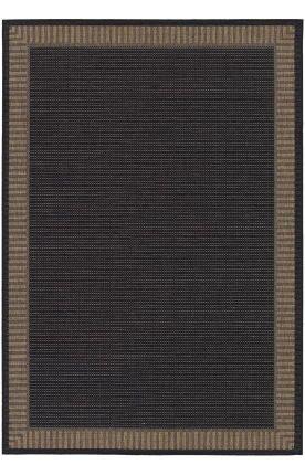 Couristan Recife 1681/2000 Wicker Rug, 5-Feet 3-Inch by 7-Feet 6-Inch, Stitch/Black/Cocoa