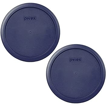 PYREX Blue Plastic Cover fits 6 & 7 cup Round Dishes (2 Lids)