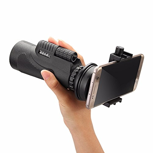 Cell Phone Telescope, M.Way Universal 12x50 Telephoto Lens Hiking Concert Camera Lens Monocular+ Universal bracket + Bag + Tripod For Iphone Sony Samsung Moto Etc Common clip Universal clip