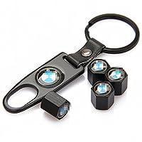 CzlpV Black Car Wheel Tire Valve Caps Tyre Stem Air Caps Keychain Styling For BMW from CzlpV