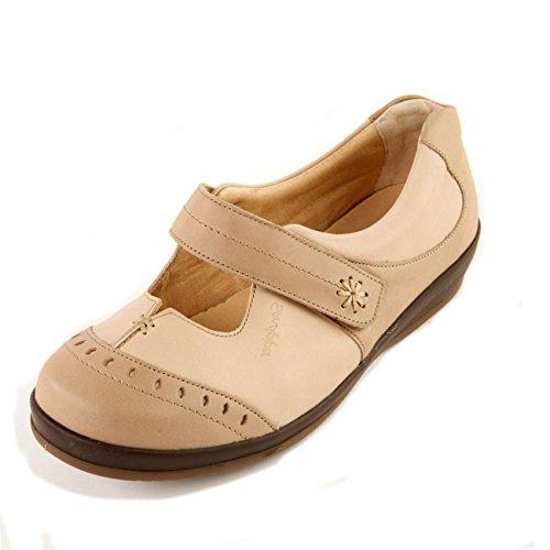 Piel Para Zapatos Stone De Cordones Otra Sandpiper beige Mujer nZcA4xT