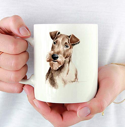 Irish Terrier Custom 11oz Mug With Dog Art Featuring Watercolor Painting by Artist DJ Rogers