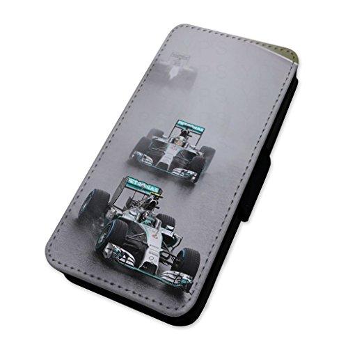 Racing Cars Wet giri–Custodia ad aletta in pelle copertura di carta Apple iPhone 4/4S