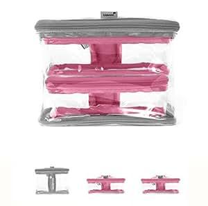Toy Bags - Kidenza Toy Storage. Medium Set. 3 Pack: Pink & Gray