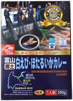 タカズミ 富山故郷 白えび&ホタルイカカレー 200g×4箱
