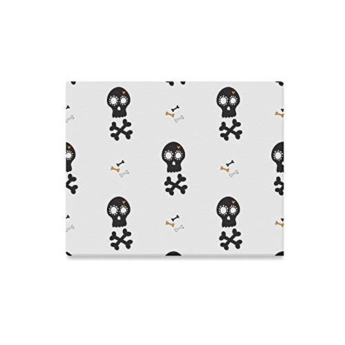 (Wall Art Painting Halloween Bones Black Mexican Prints On Canvas The Picture Landscape Pictures Oil for Home Modern Decoration Print Decor for Living)