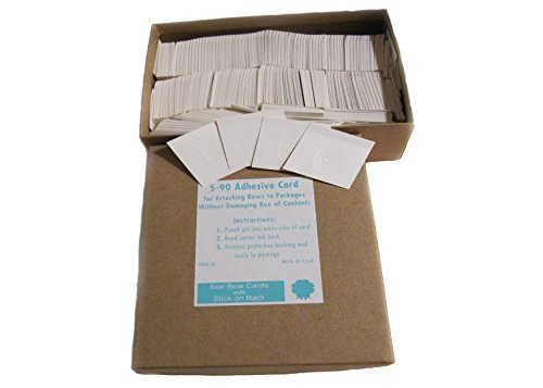 S-72 Machine Bow Cards, for Hand Made Bows -Adhesive Backed (1000 ct.)