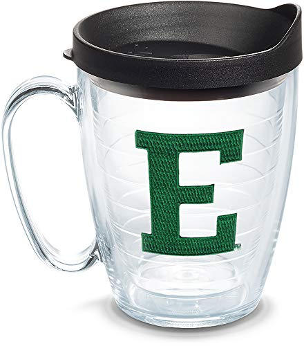 Tervis 1068372 Eastern Michigan Eagles Logo Tumbler with Emblem and Black Lid 16oz Mug, ()