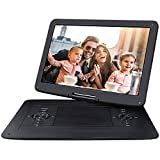 NAVISKAUTO 17.9'' Portable DVD Player with 1366x768 Large Swivel 15.6'' Screen Support 7 Hours, 128GB USB SD, Sync Screen, AV Out & in, Stereo Sound, Resume, Region Free