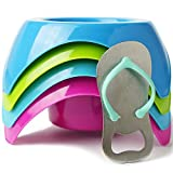 Mookundy – Sand Beach Cup Holders with stainless steel bottle opener. Portable sand coaster.