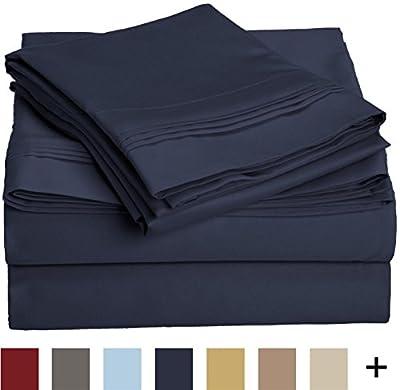Impressions 1000 Thread Count Premium Egyptian Cotton, California King Bed Sheet Set