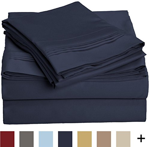 Impressions 1000 Thread Count Premium Egyptian Cotton, California King Bed Sheet Set - DURABLE and BREATHABLE: 100% Egyptian Cotton is specially combed to remove all but the finest, longest fibers, making these sets the ultimate in luxury; the tight weave construction makes it softer, more lightweight, and more durable than any other cotton; this product is OEKO-TEX certified to ensure environmental and safety standards; OEKO-TEX fabrics and textiles are free of harmful chemicals and substances TIMELESS STYLE: Available in a variety of solid colors and multiple sizes; these elegant sheets are ultra-soft and boast a subtle shimmer from their sateen weave; add a matching duvet or extra pillowcases, sold separately, for a complete look MACHINE WASHABLE & EFFORTLESS CARE: These luxurious sheets are colorfast and get softer with every wash; please follow the instructions on the care label in order to minimize wrinkling and/or shrinkage - sheet-sets, bedroom-sheets-comforters, bedroom - 41OzJ%2BXlw6L -