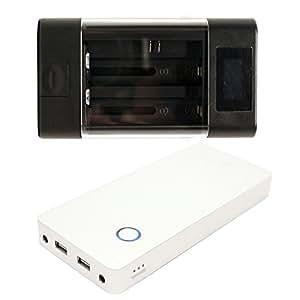 Panasonic Lumix DMC-FS15 Charger and 18000mAh Portable External Battery Charger - Replacement Panasonic DMW-BCF10 Digital Camera Charger