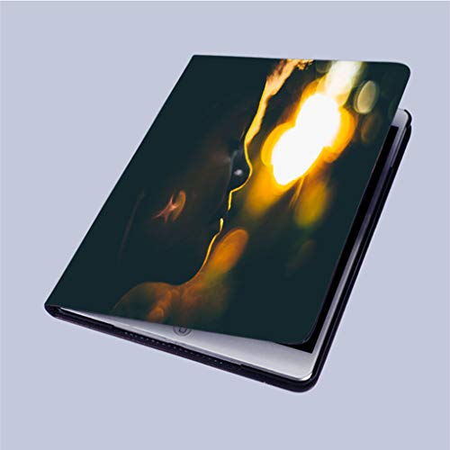 Silouette Girl (Compatible with 3D Printed iPad 9.7 Case,Silouette-of-Young-Curly-Girl-During-Sunset Lightweight Anti-Scratch Shell Auto Sleep/Wake,Back Protector Cover iPad 9.7