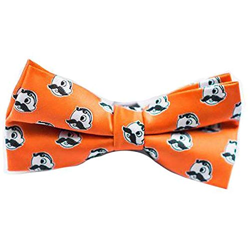 - Route One Apparel   Officially Licensed Embroidered Natty BOH Logo Pattern Pre-Tied Bow Tie (Orange)