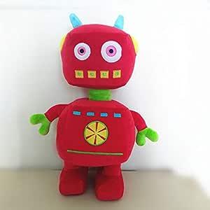 dingtian Peluche Peluche Rojo Robot De Juguete 36 Cm