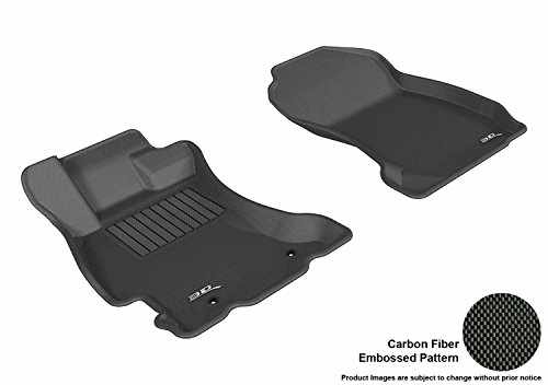 (3D MAXpider Front Row Custom Fit All-Weather Floor Mat for Select Subaru Forester Models - Kagu Rubber (Black))