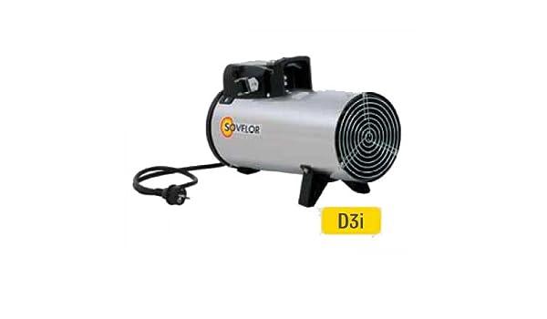Sovelor - Calentador de aire comprimido eléctrica portátil acero inoxidable 230 V ~ 1 50 Hz 3 kW - D3i: Amazon.es: Bricolaje y herramientas