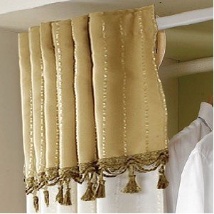 Simple 2 Tier Hanger with Curtain | Clothing Rack | Closet Organizer