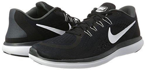 569640e52a11 Nike Men s Flex 2017 RN Running Shoes Black White Anthracite Cool Grey 10