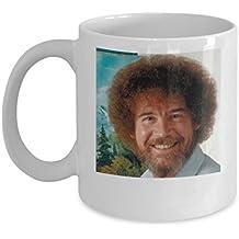 Bob Ross Painting Mug (White) - Bob Ross Coffee Mug - 11-oz Bob Ross Quote Coffee Mug Cup - Funny Bob Ross Painting Quote Coffee Cup