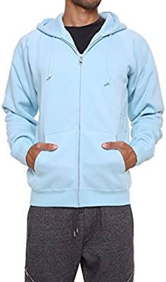Mens Sweatshirt Hoodies Full Sleeve-Front Zip Premium Hood 2 Split Pocket