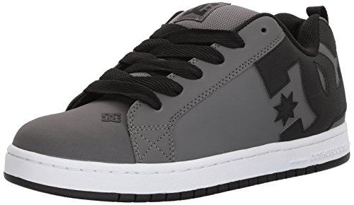 Go Court Comfort Shoes - DC Men's Court Graffik Skate Shoe, Grey/Grey/Black, 11 D US