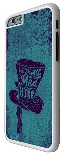 028 - Cool Funny Cartoon Mad Hatter Hat Art Design iphone 6 6S 4.7'' Coque Fashion Trend Case Coque Protection Cover plastique et métal - Blanc