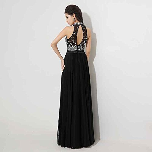 Gown Sleeveless for Lapel Prom Dresses Party Women`s Formal cotyledon Chiffon qwt6p1w